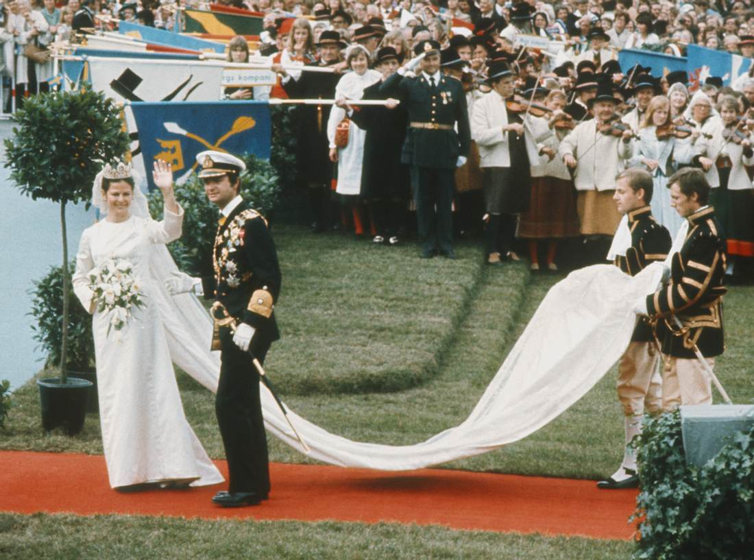 Das Brautkleid von Silvia von Schweden.
