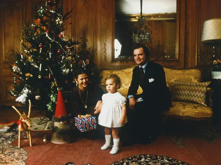 Königin Silvia und König Carl Gustaf feiern Weihnachten mit ihrer Tochter Victoria.