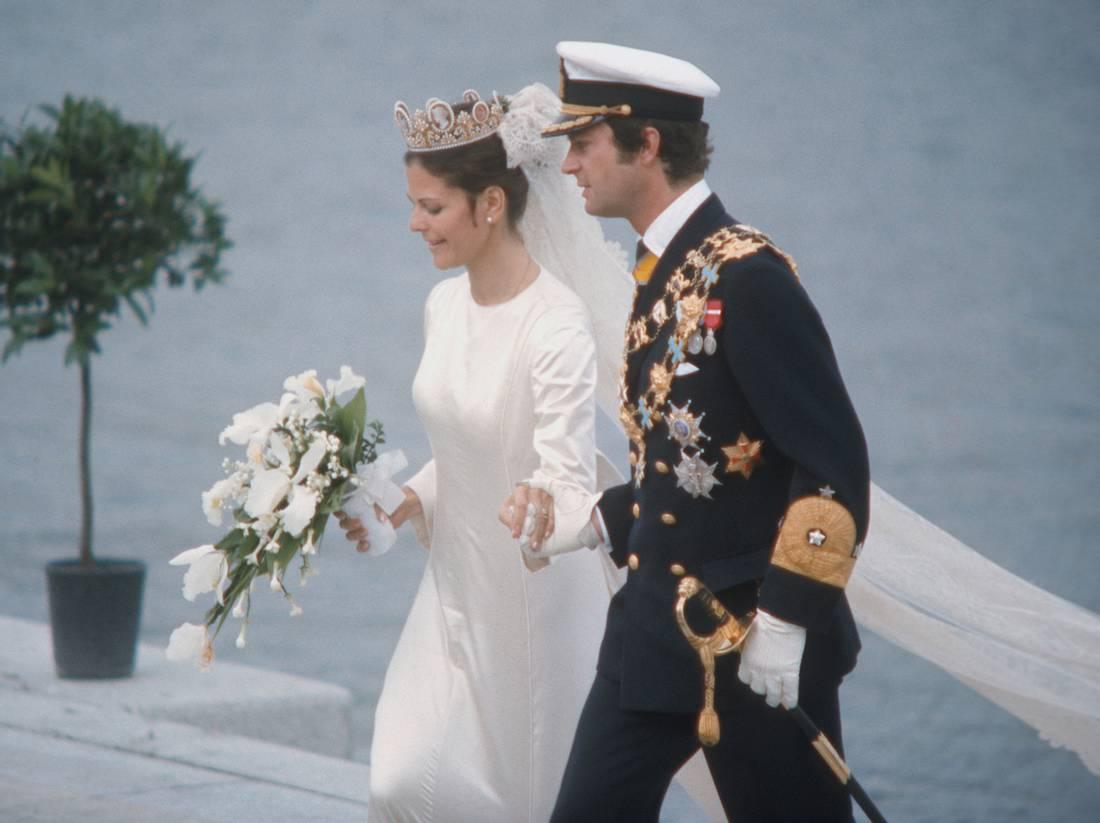 Die Hochzeit von Königin Silvia und König Carl Gustaf.