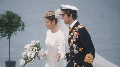 Die Hochzeit von Königin Silvia und König Carl Gustaf. - Foto: Keystone / Getty Images
