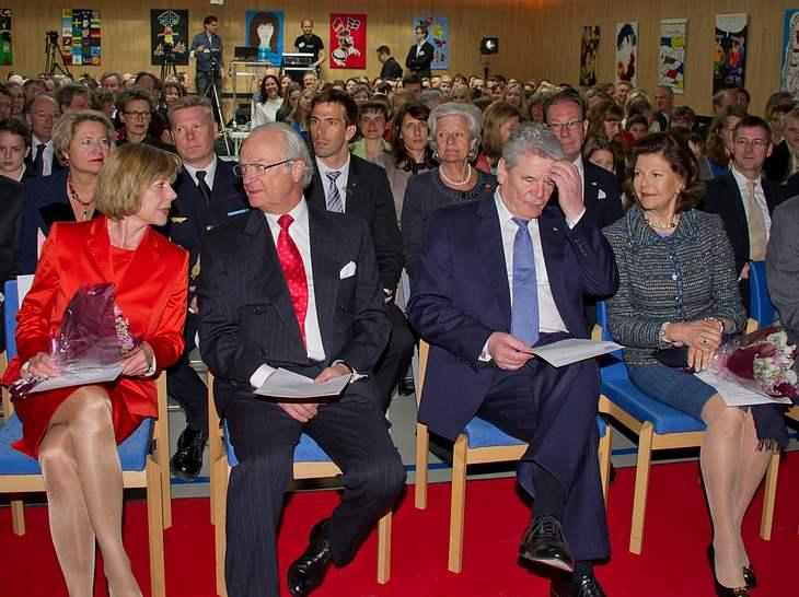 Königin Silvia und Joachim Gauck in Stockholm.