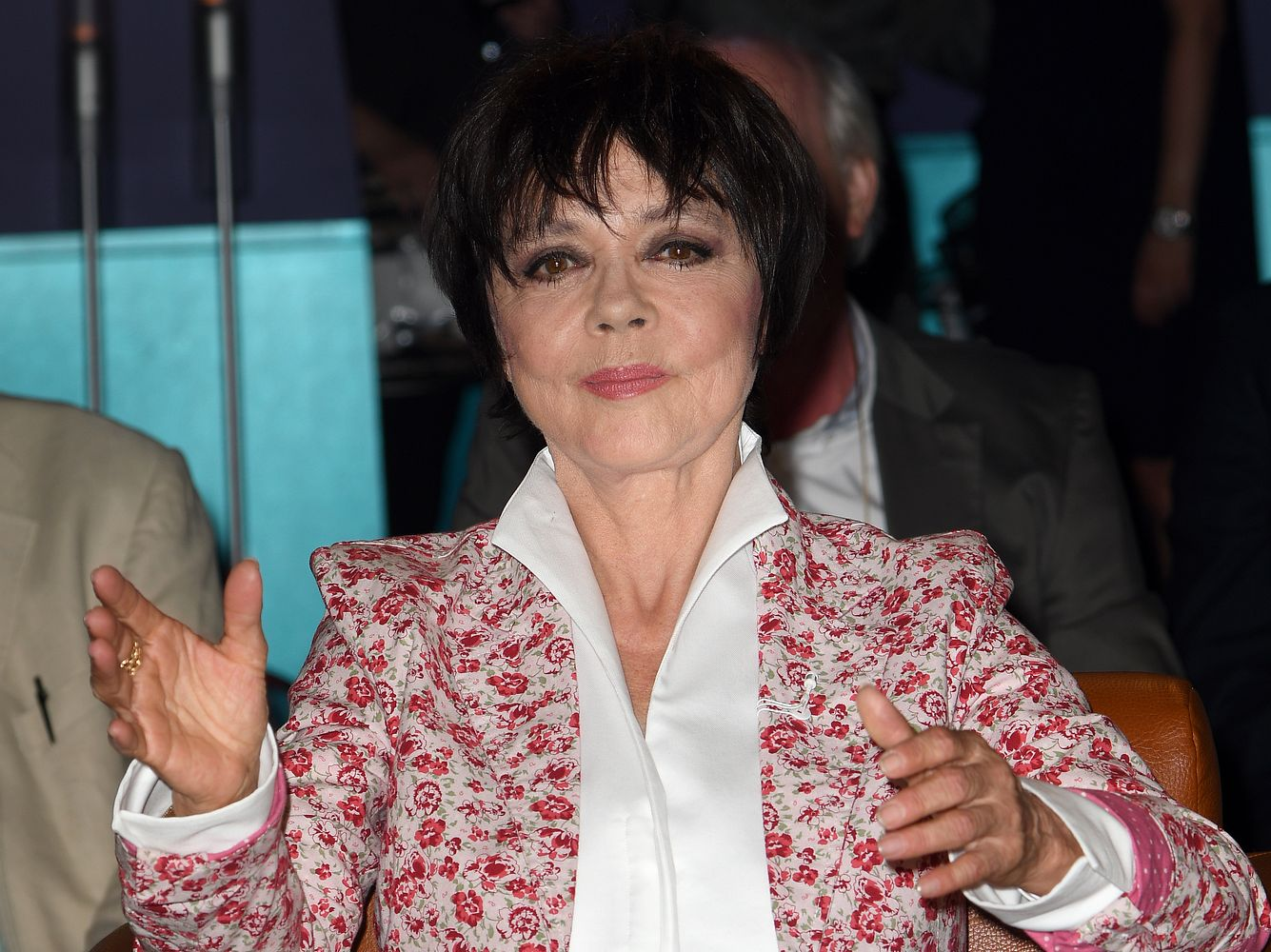 Simone Rethel-Heesters in einer Talkshow.