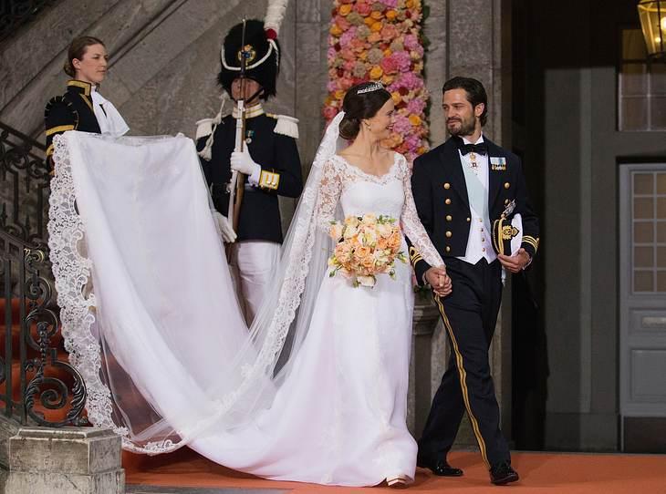 Das Brautkleid von Sofia von Schweden.