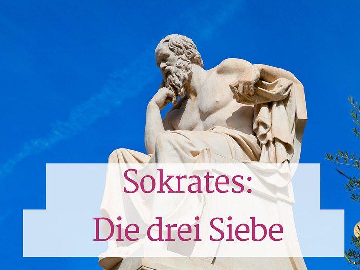 Die Geschichte von Sokrates regt zum Nachdenken an.