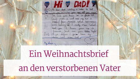 Brief an toten Vater berührt