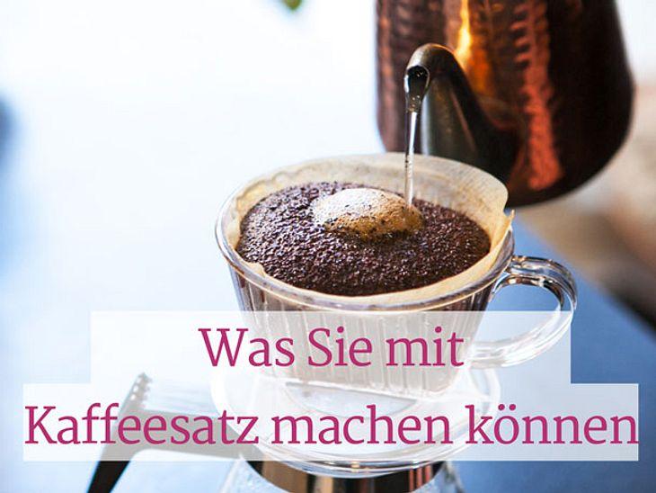 Was Sie mit Kaffeesatz machen können.