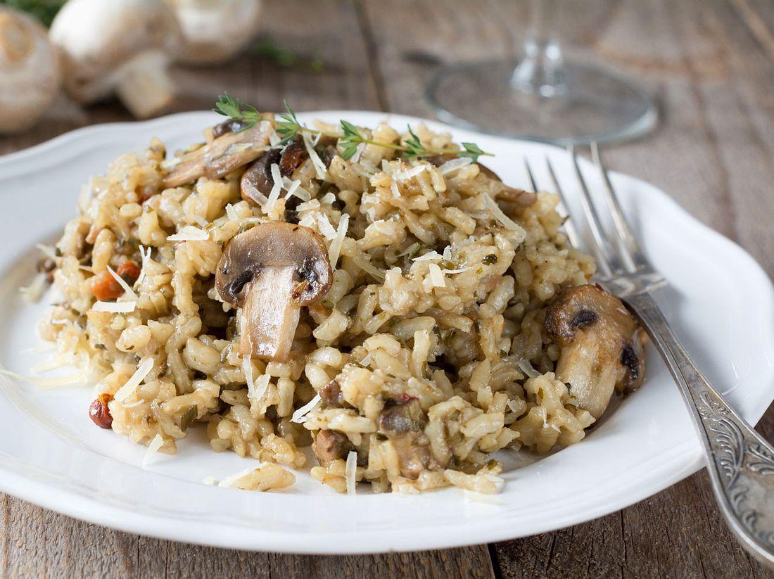 Cremiges Steinpilzrisotto mit Parmesan.