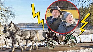 Drama bei Sturm der Liebe: Alfons und Hildegard schweben in Gefahr. - Foto: ARD/Christof Arnold, Collage: Liebenswert