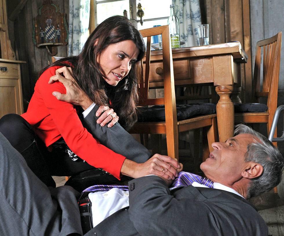 Barbara von Heidenberg (hier mit Friedrich) hat bei 'Sturm der Liebe' für viel Spannung gesorgt.