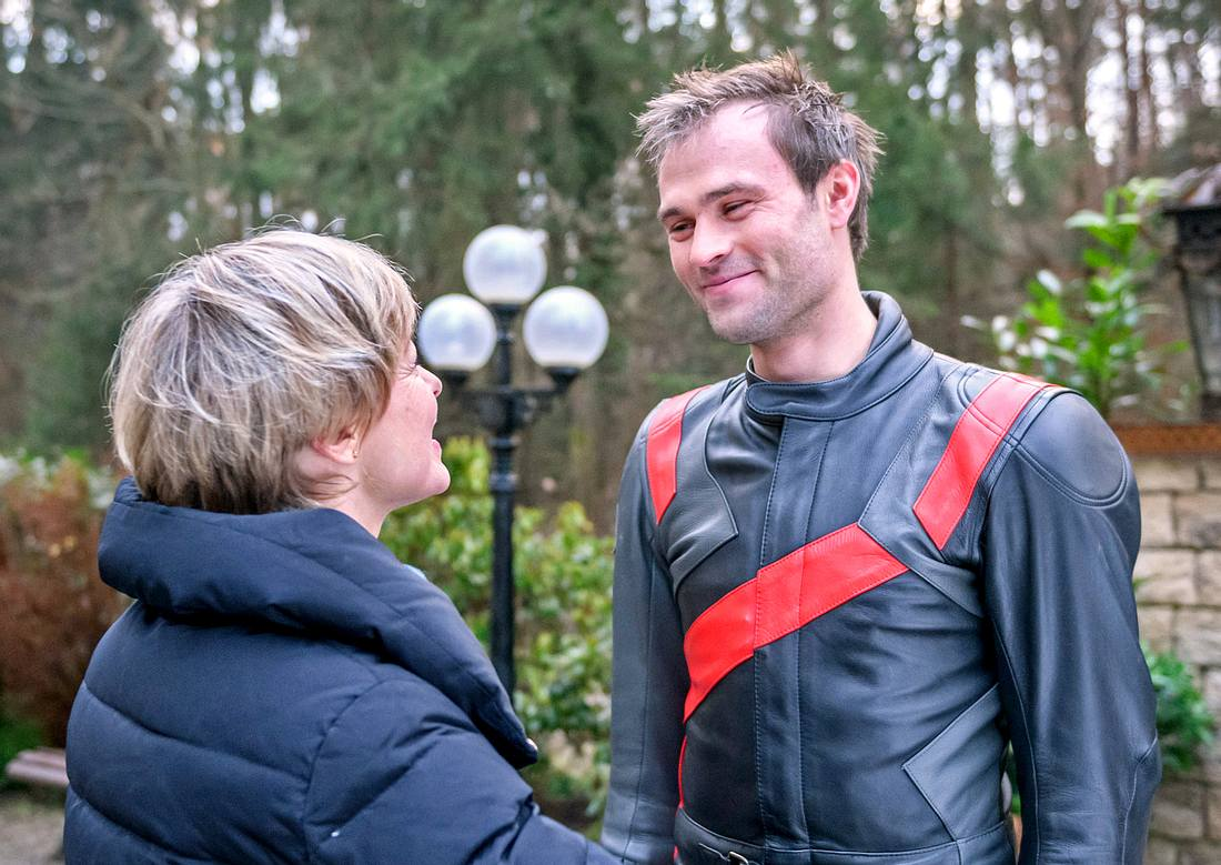 Sturm der Liebe: Linda Baumgartner trifft Sohn Steffen.