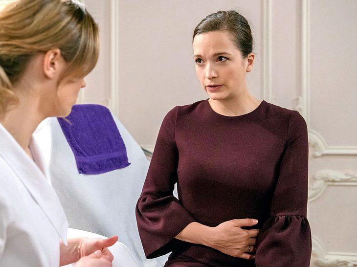 Bei Sturm der Liebe sorgt Evas Schwangerschaft für Aufruhr.
