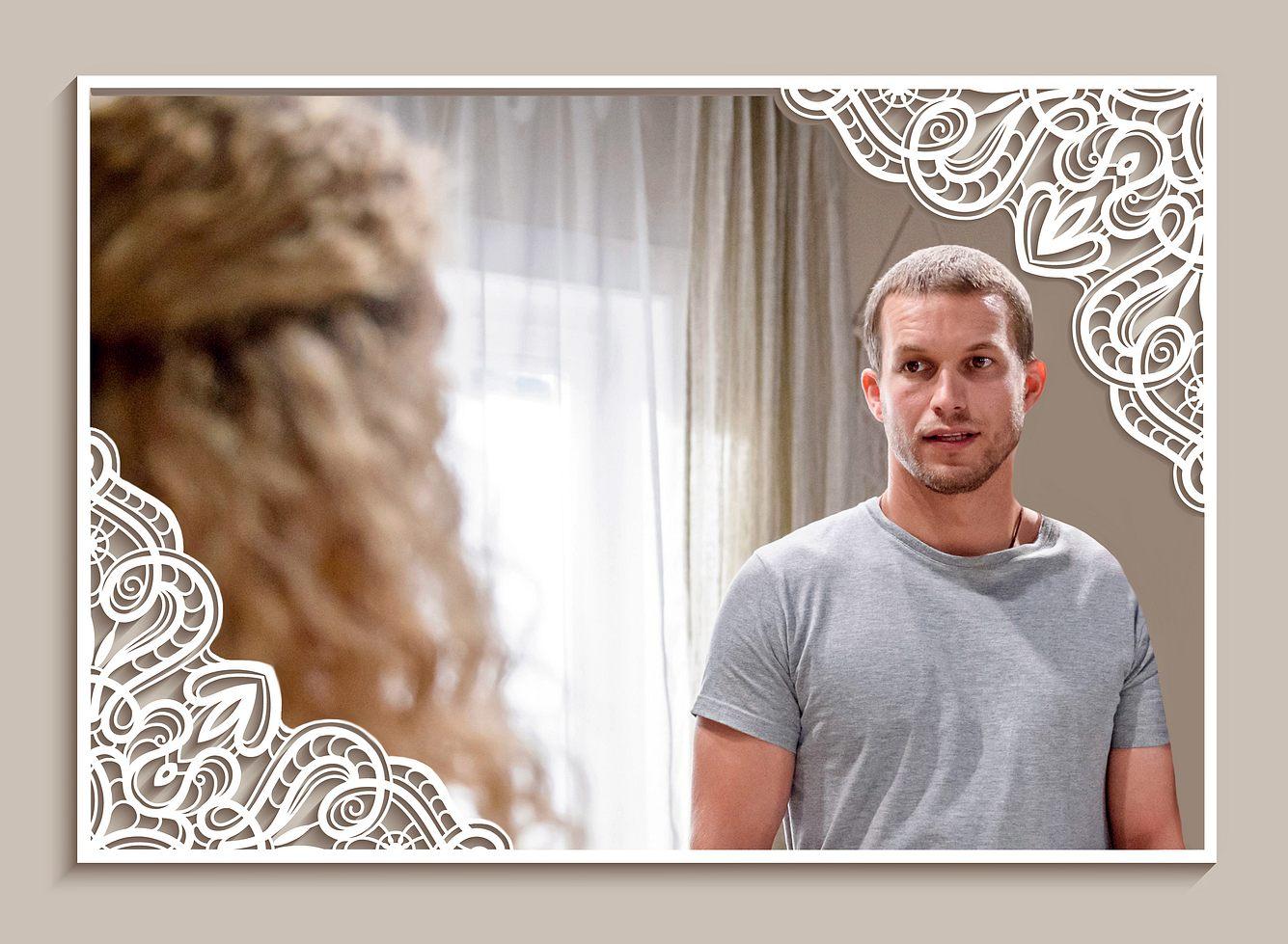 Bei 'Sturm der Liebe' ist Tim ganz verzaubert von Franzi in ihrem Brautkleid.