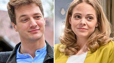 In Staffel 16 von Sturm der Liebe könnten Henry (Patrick Dollmann) und Lucy (Jennifer Siemann) wichtige Rollen spielen. - Foto: ARD/Christof Arnold