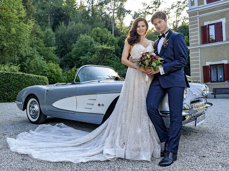 So schön ist das Sturm-der-Liebe-Brautpaar Denise und Joshua.