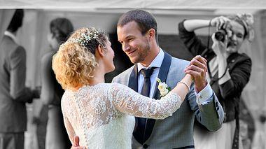 Franzi und Tim während ihres Hochzeitstanzes bei Sturm der Liebe. - Foto: ARD/Christof Arnold