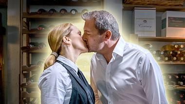 Bei Sturm der Liebe küssen sich Rosalie und Christoph. - Foto: ARD/Christof Arnold (Bearbeitung: Liebenswert)