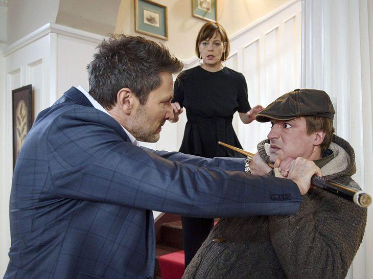 Bei Sturm der Liebe streiten Christoph und sein Sohn Viktor heftig miteinander - wegen Alicia.