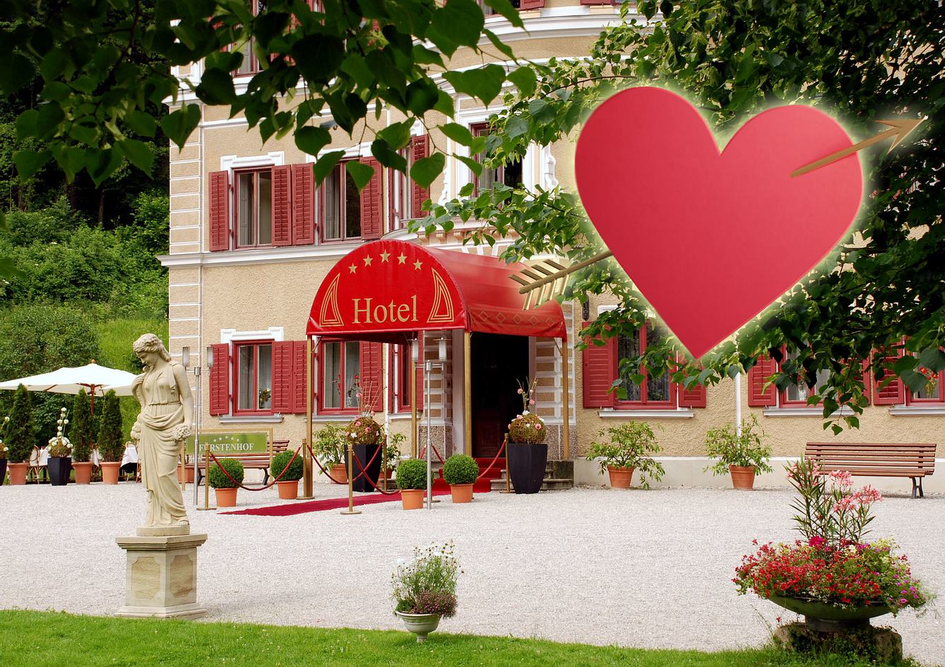 'Sturm der Liebe'-Fürstenhof mit Herz.