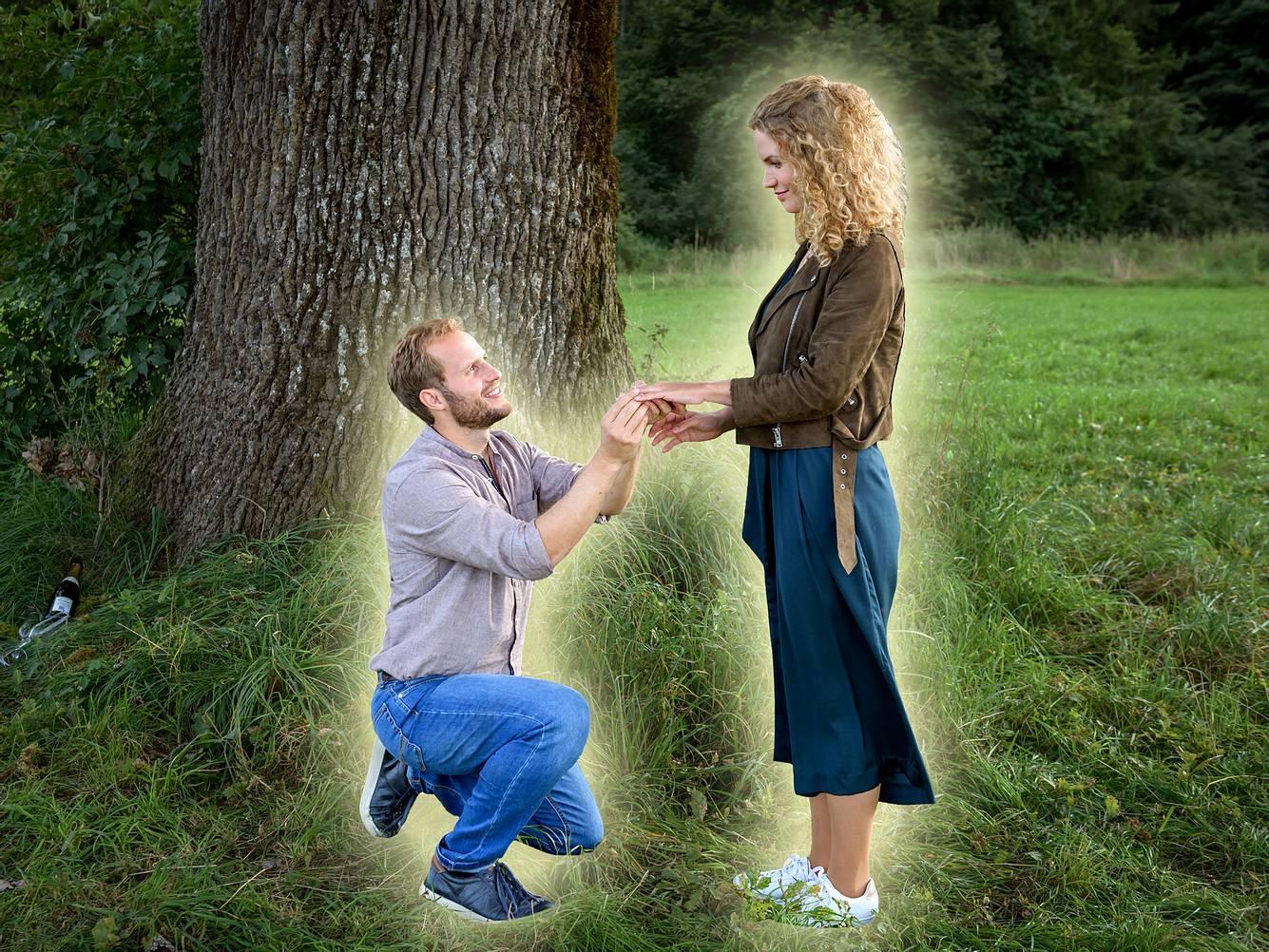 Bei 'Sturm der Liebe' macht Florian Maja einen Heiratsantrag.