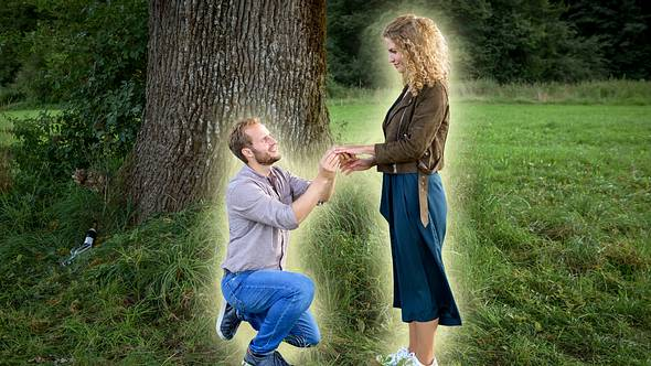 Bei Sturm der Liebe macht Florian Maja einen Heiratsantrag. - Foto: ARD/Christof Arnold