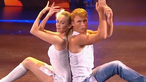 Bei einer Talent-Show begeistert ein Tänzer mit einem Bein.  - Foto: Screenshot/YouTube