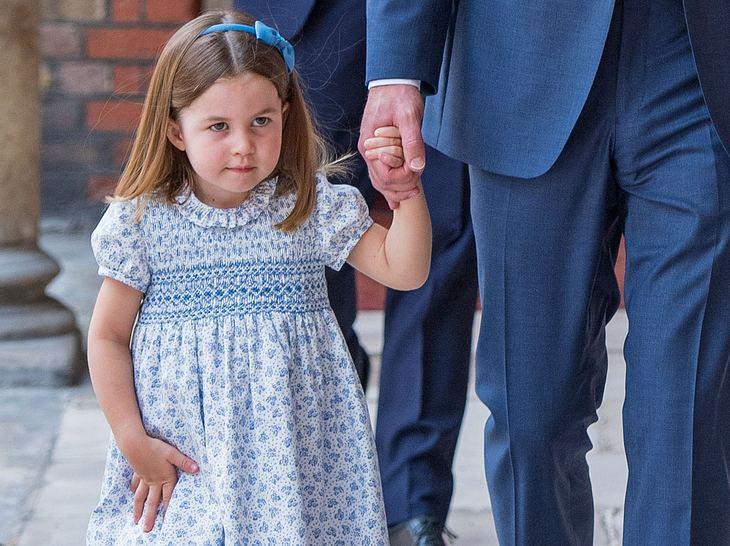 Prinzessin Charlotte auf dem Weg zur Taufe ihres Bruders Louis.