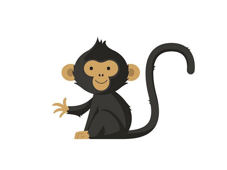 Was ein Affe als Symbol im Selbsttest bedeutet.