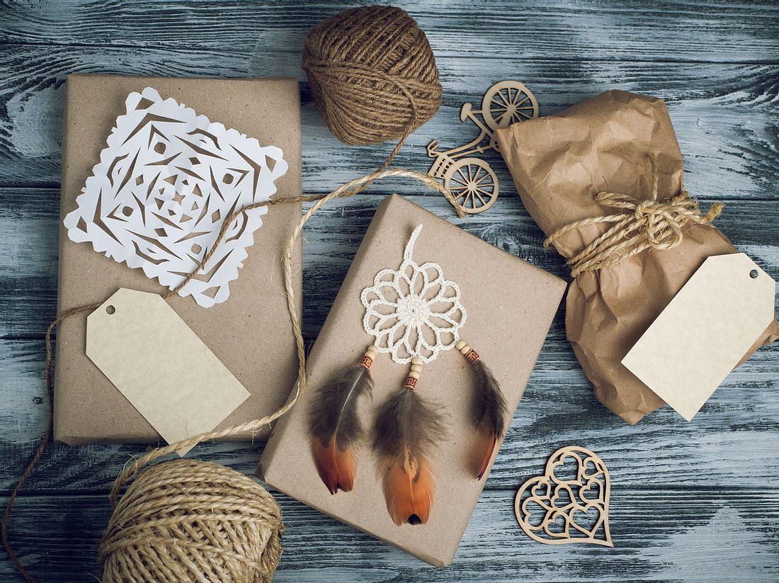 Traumfänger-Geschenkverpackung: Verträumte Verpackungsidee