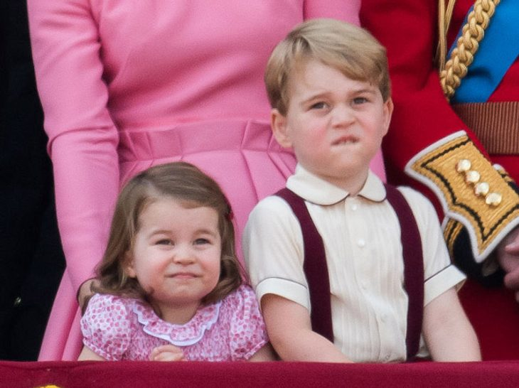 George und Charlotte bei Trooping the Colour 2017.