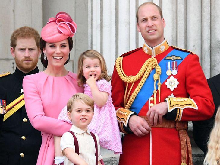 Die britischen Royals bei Trooping the Colour 2017.
