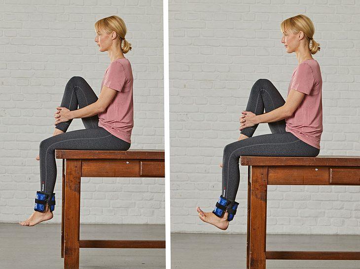 Übung fürs Knie: Beinzug