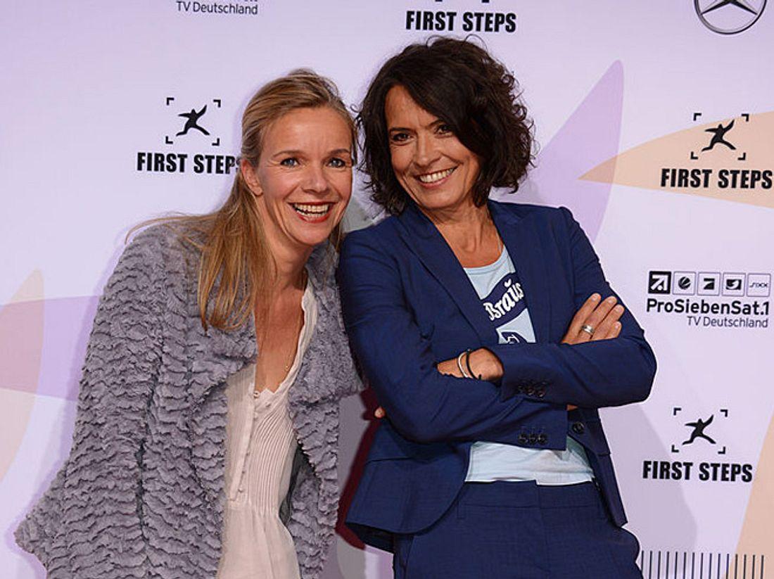 Ulrike Folkerts mit ihrer Freundin Katharina Schnitzler.