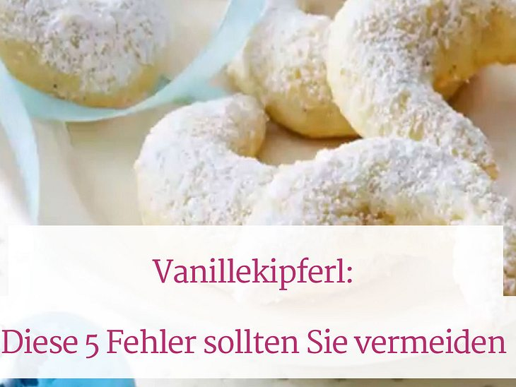 So gelingen Vanillekipferl.