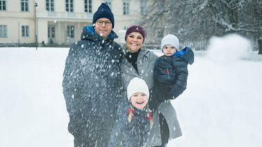 Victoria von Schweden: Schnee-Spaß mit Estelle, Oscar und Daniel - Foto: Raphael Stecksén / Kungahuset.se