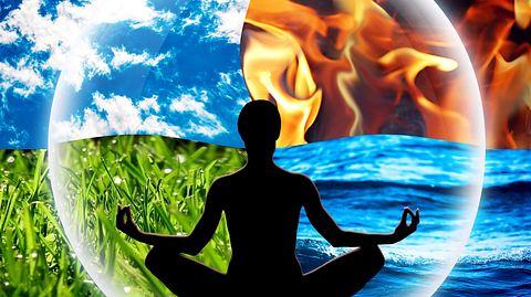 Die vier Elemente Feuer, Wasser, Luft und Erde können wir für unsere Gesundheit nutzen. - Foto: Zuberka / iStock