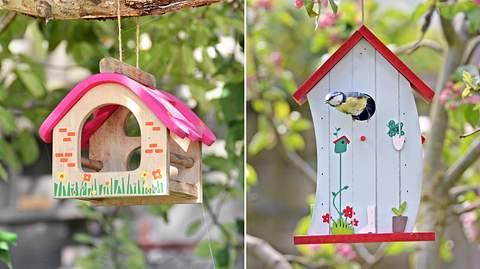 Ein Vogelhaus lässt sich einfach und hübsch bemalen. - Foto: iStock / Roman Stasiuk / vora