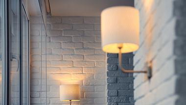 Wandlampe hängt an einer Wand. - Foto: iStock/Travelarium