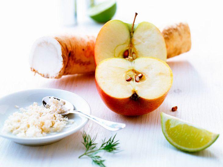 Wehwehchen Sodbrennen: Ein geriebener Apfel dient als Feuerlöscher.