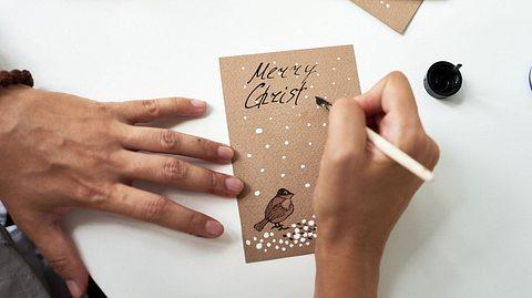 Weihnachtskarten handlettern