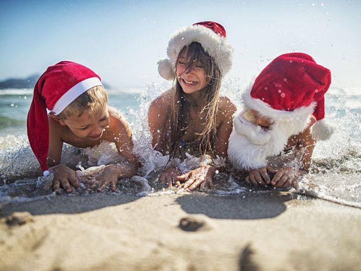 Weihnachtstradition: Festlich feiern am australischen Strand.
