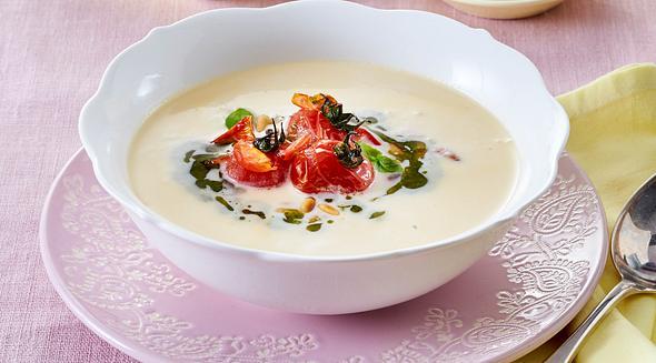 Weiße Tomatensuppe - das einfache Rezept