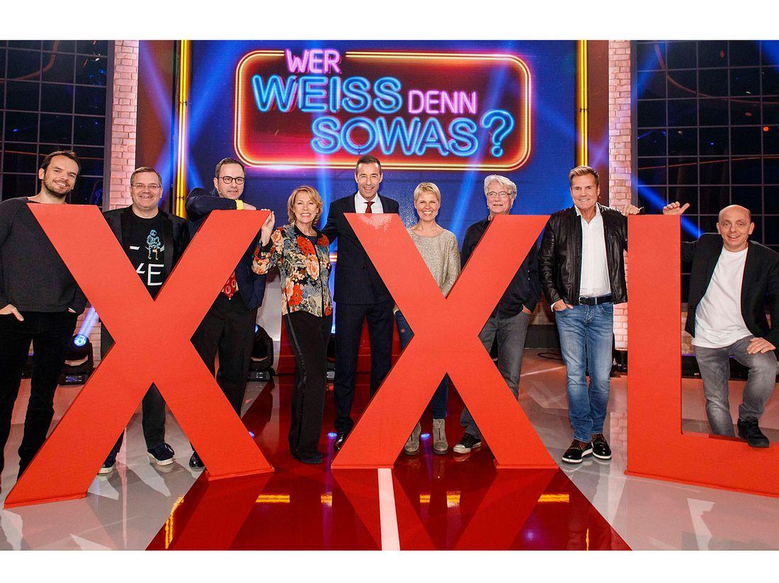'Wer weiß denn sowas XXL - Das unvorstellbare Wissensquiz mit Kai Pflaume', am Samstag (30.12.17) um 20:15 Uhr im Ersten.