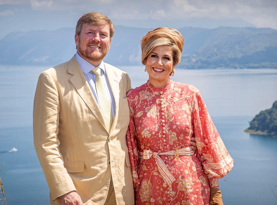 Willem-Alexander und seine Frau Máxima in Indonesien..