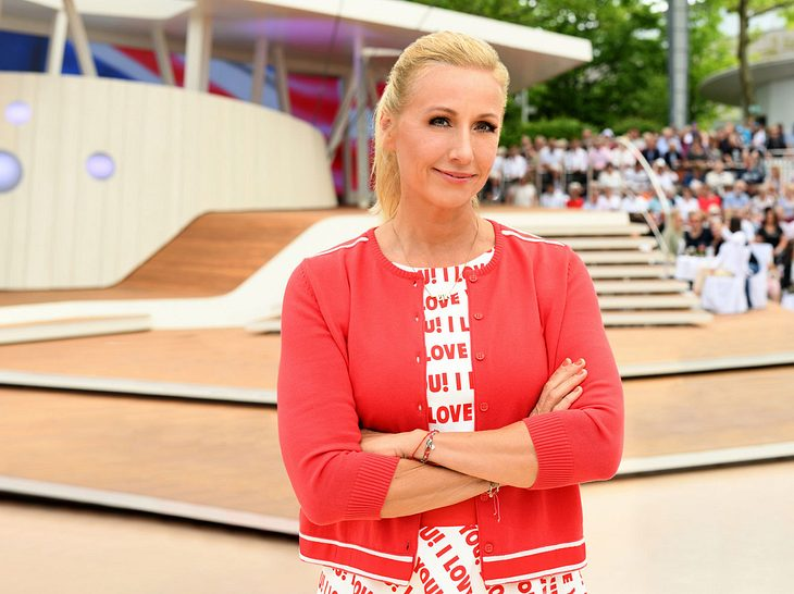 """Andrea Kiewel brach den Auftritt von Luke Mockridge im """"ZDF-Fernsehgarten"""" ab."""