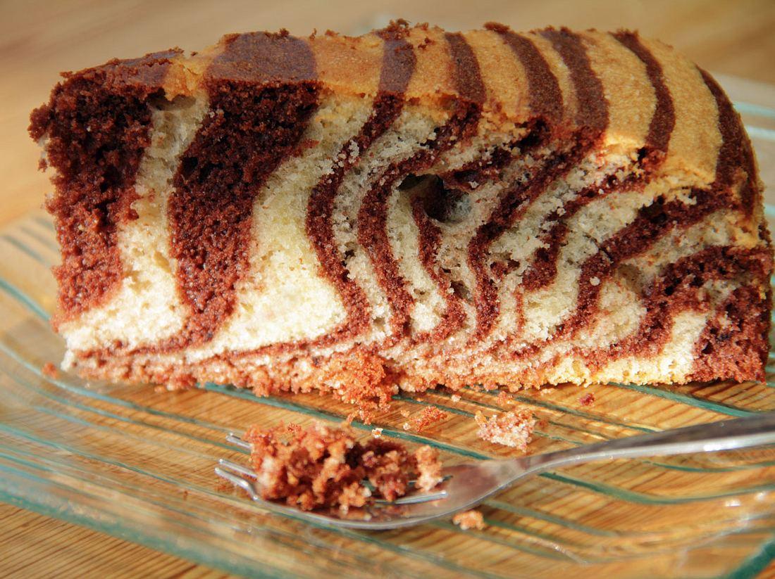 Ein Klassiker unter den Rührkuchen, der Zebrakuchen.