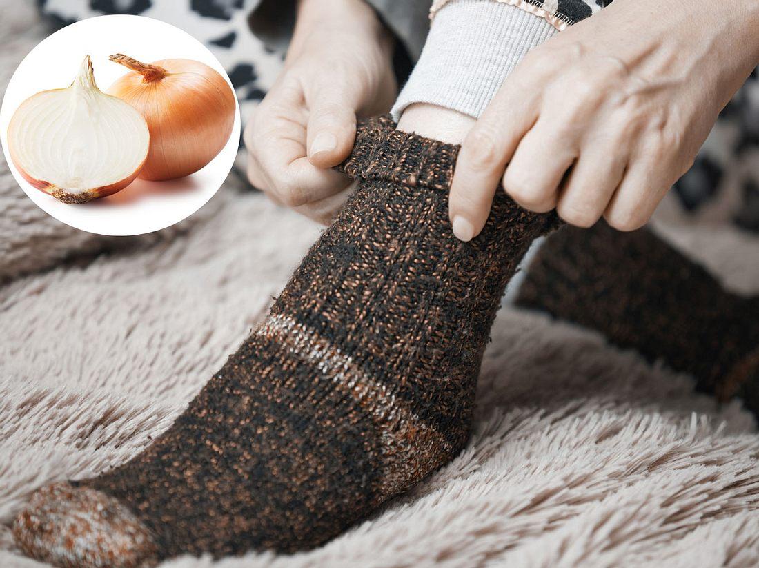 Zwiebelsöckchen gegen Erkältungssymptome: So wirken sie